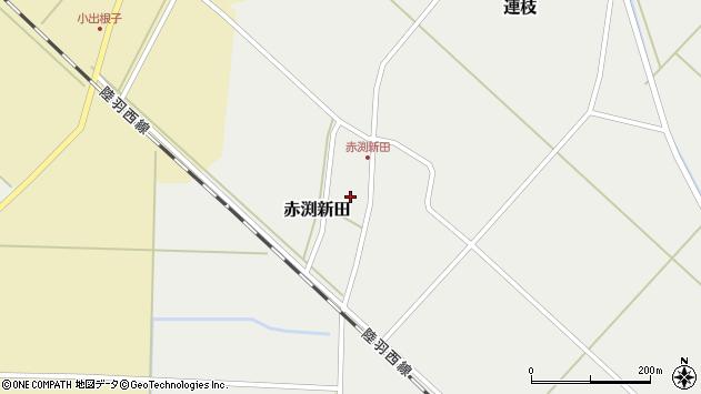 山形県東田川郡庄内町赤渕新田藤原台41周辺の地図