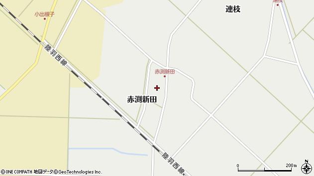 山形県東田川郡庄内町赤渕新田藤原台42周辺の地図