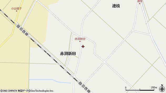 山形県東田川郡庄内町赤渕新田藤原台44周辺の地図
