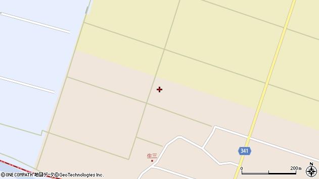 山形県東田川郡庄内町吉岡中割周辺の地図