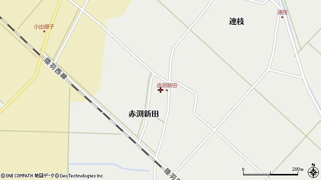 山形県東田川郡庄内町赤渕新田周辺の地図