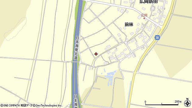 山形県酒田市広岡新田221周辺の地図