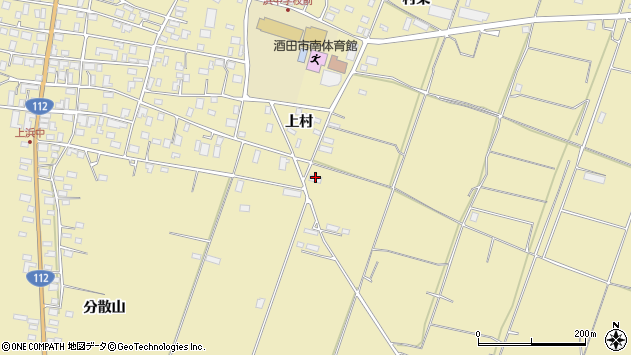 山形県酒田市浜中村東1168周辺の地図