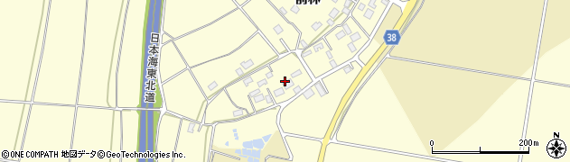 山形県酒田市広岡新田497周辺の地図