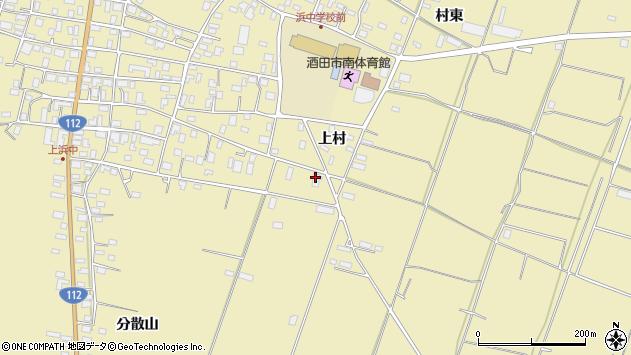 山形県酒田市浜中上村378周辺の地図