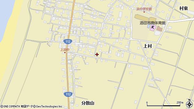 山形県酒田市浜中上村661周辺の地図