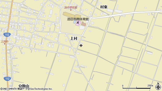 山形県酒田市浜中村東1208周辺の地図