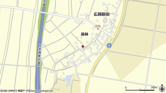 山形県酒田市広岡新田491周辺の地図