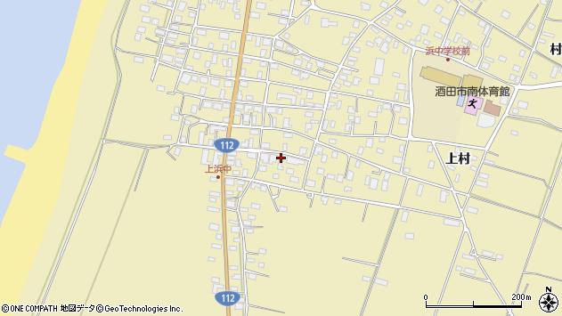 山形県酒田市浜中上村86周辺の地図
