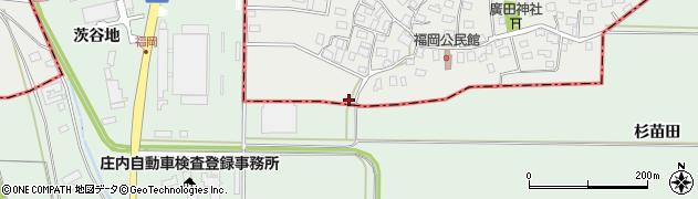 山形県酒田市広野福岡78周辺の地図