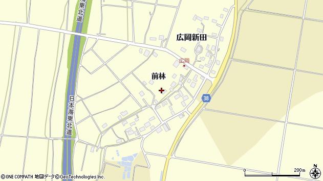 山形県酒田市広岡新田周辺の地図