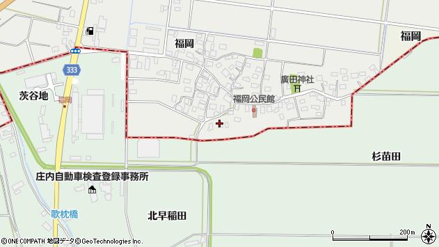 山形県酒田市広野福岡50周辺の地図