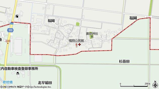 山形県酒田市広野福岡37周辺の地図