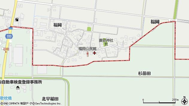 山形県酒田市広野福岡31周辺の地図