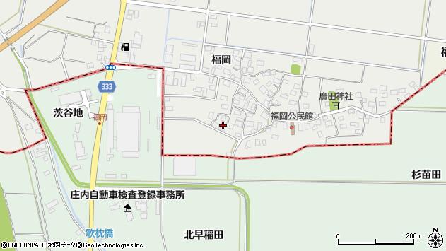 山形県酒田市広野福岡67周辺の地図