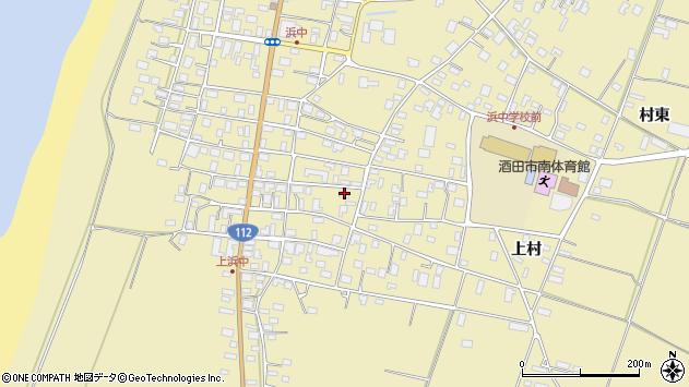 山形県酒田市浜中上村181周辺の地図