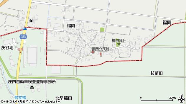 山形県酒田市広野福岡46周辺の地図