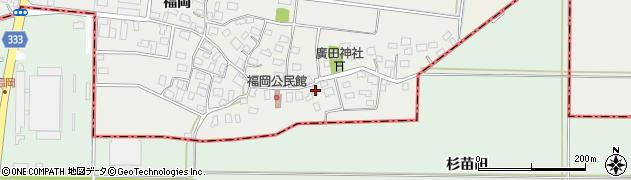 山形県酒田市広野福岡30周辺の地図