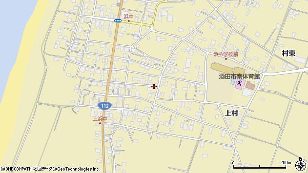 山形県酒田市浜中上村183周辺の地図