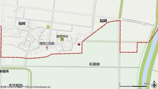 山形県酒田市広野福岡571周辺の地図
