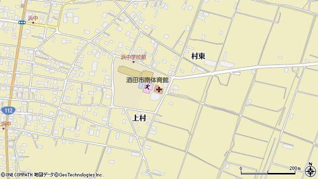 山形県酒田市浜中上村386周辺の地図
