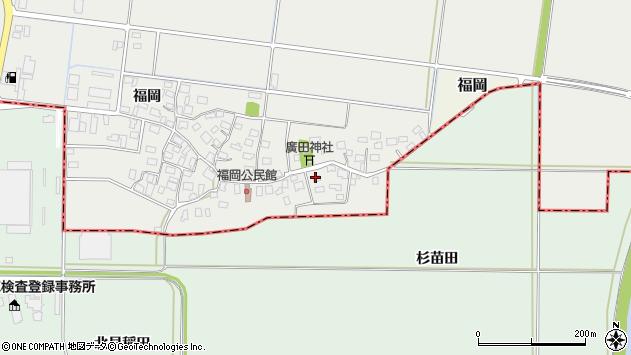 山形県酒田市広野福岡23周辺の地図