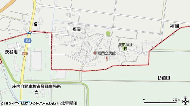 山形県酒田市広野福岡周辺の地図