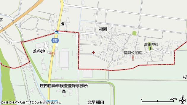 山形県酒田市広野福岡130周辺の地図