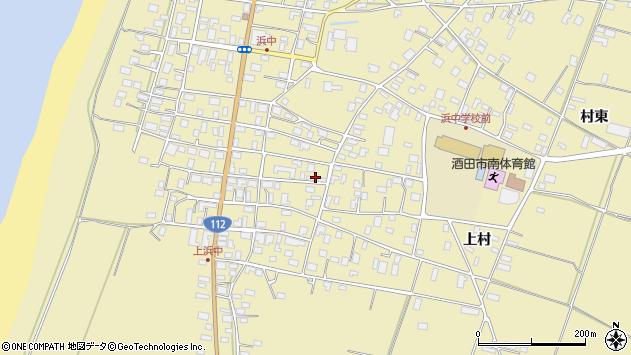 山形県酒田市浜中上村197周辺の地図