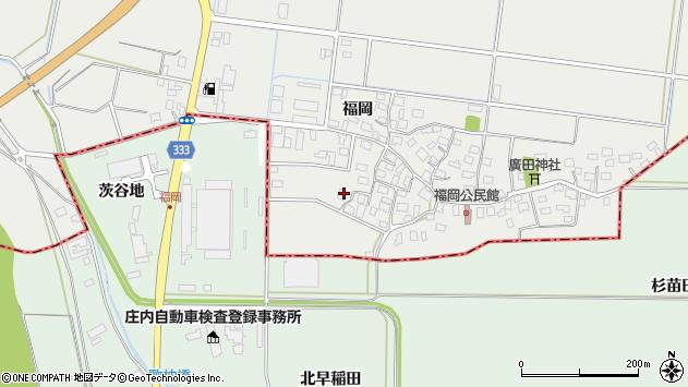 山形県酒田市広野福岡83周辺の地図