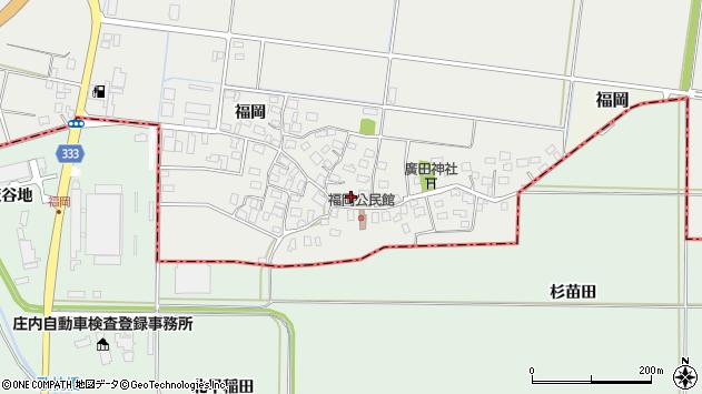 山形県酒田市広野福岡197周辺の地図