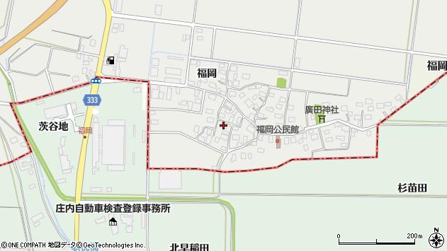 山形県酒田市広野福岡65周辺の地図