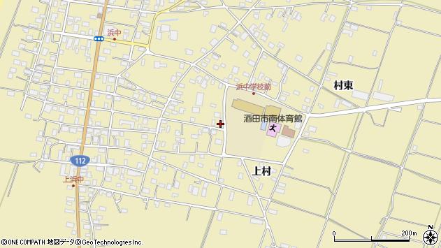 山形県酒田市浜中上村372周辺の地図