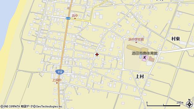 山形県酒田市浜中上村203周辺の地図