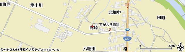 宮城県栗原市栗駒中野高崎周辺の地図