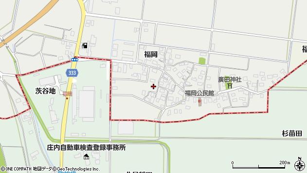 山形県酒田市広野福岡84周辺の地図