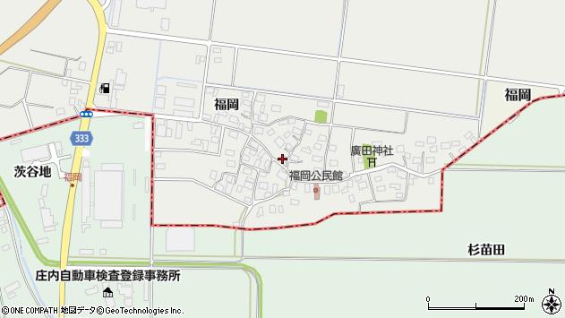 山形県酒田市広野福岡194周辺の地図