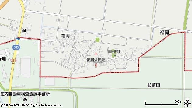 山形県酒田市広野福岡211周辺の地図