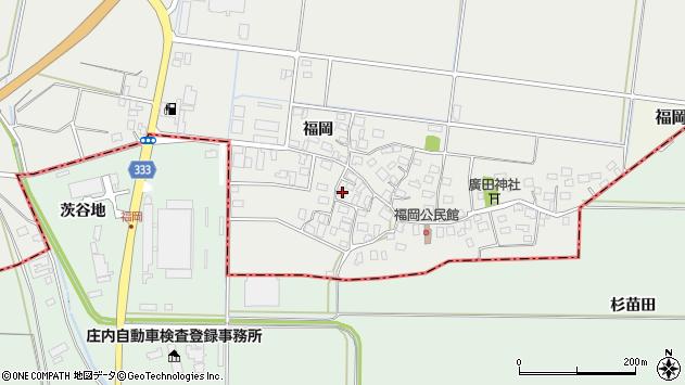 山形県酒田市広野福岡64周辺の地図