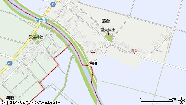 山形県東田川郡庄内町落合落合185周辺の地図