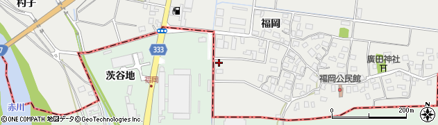 山形県酒田市広野福岡542周辺の地図