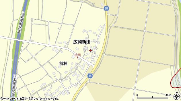 山形県酒田市広岡新田466周辺の地図