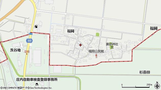 山形県酒田市広野福岡62周辺の地図