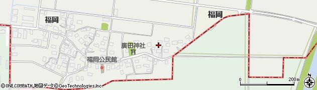 山形県酒田市広野福岡252周辺の地図