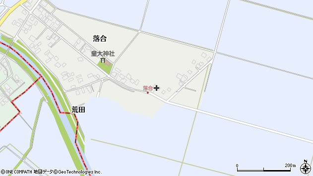 山形県東田川郡庄内町落合落合44周辺の地図