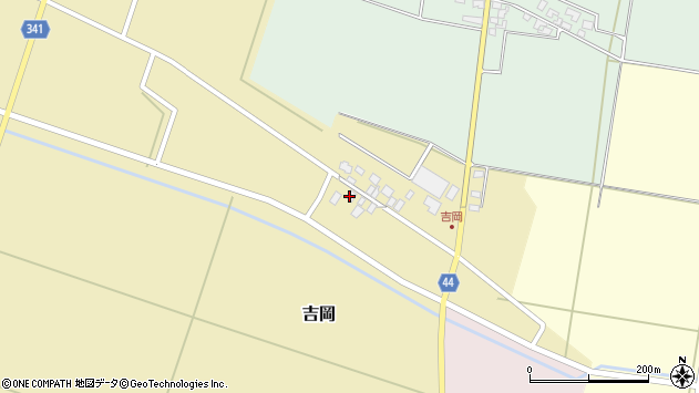 山形県東田川郡庄内町吉岡上南40周辺の地図