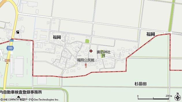 山形県酒田市広野福岡215周辺の地図