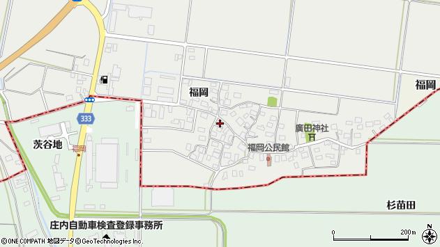 山形県酒田市広野福岡63周辺の地図