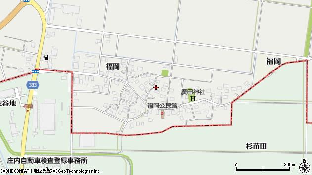 山形県酒田市広野福岡200周辺の地図