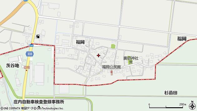 山形県酒田市広野福岡193周辺の地図